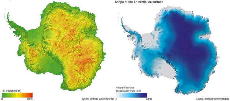 Illustration for article titled ¿Cuánto hielo hay realmente en la Antártida?