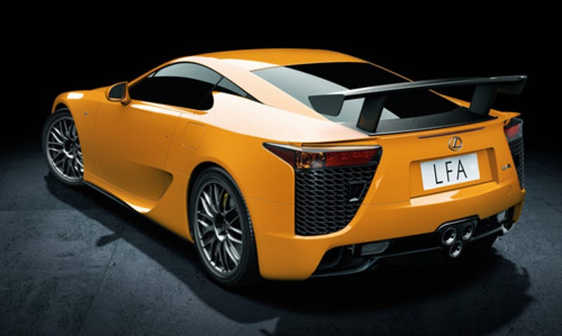 2012 Lexus LFA Nurburgring Package Insert Intended Acceleration