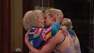 Illustration for article titled Betty White Makes Out With Bradley Cooper, Officially Wins SNL