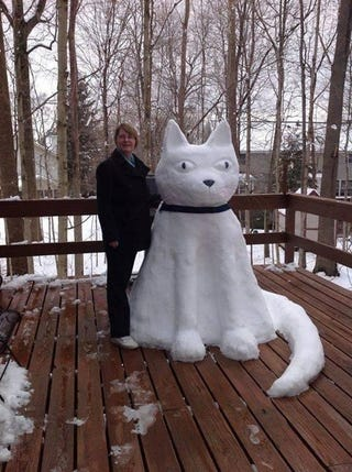 Illustration for article titled A Snow Totem to Team Cat