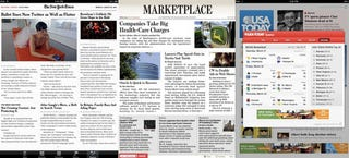 Illustration for article titled This Is a Newspaper on the iPad: The NYT, WSJ and USA Today iPad Apps