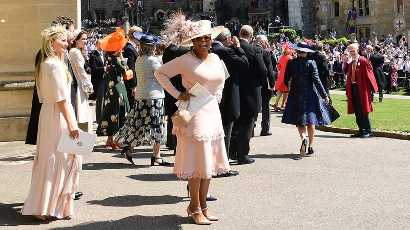 Oprah Winfrey at Harry and Meghan's wedding.