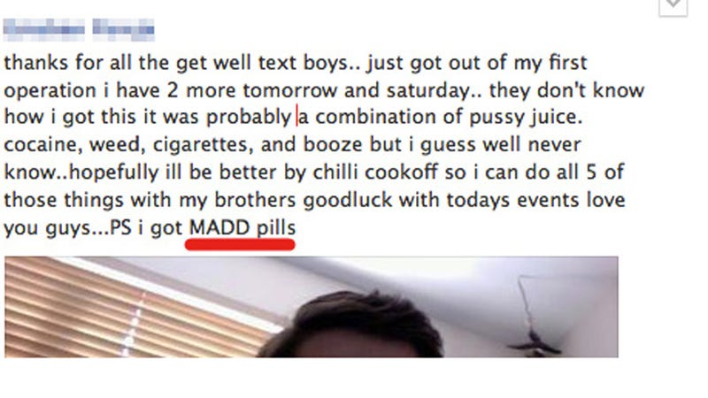 Illustration for article titled Frat Bros Suspended For Facebook Drug Dealing, General Fuckery