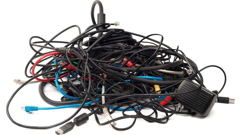 Illustration for article titled How Messy Is Your Stash of Spare Cables?