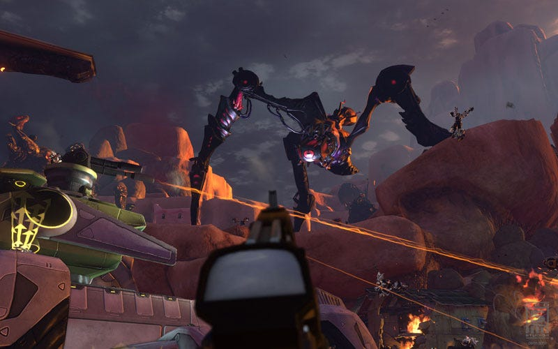 Illustration for article titled Firefall, A Massively Multiplayer Online Shooter, Revealed By Ex-WoW, Tribes Creators
