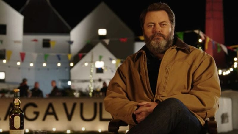 Illustration for article titled Celebrate the new year with an hour of Nick Offerman sitting peacefully