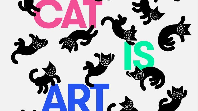 Illustration for article titled Cat Is Art Spelled Wrong explores the cat videos you spend so much time watching