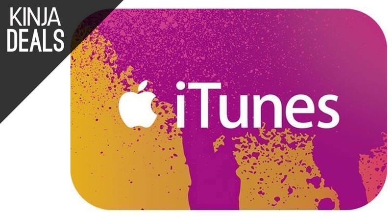 Illustration for article titled Save Up to 25% on Apps, Movies, and More With This iTunes Gift Card Deal
