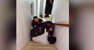 Screenshot from cellphone video of Nicholson Gregoire's encounter with policeNew York Daily News