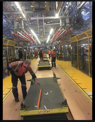 pic from Facebook. empty Holden production line