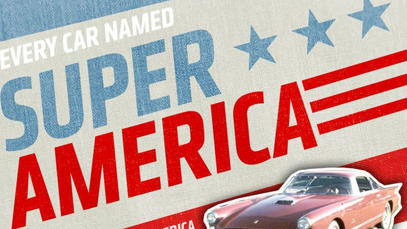 Illustration for article titled Here's Your Handy Chart Of Cars Named 'SuperAmerica'