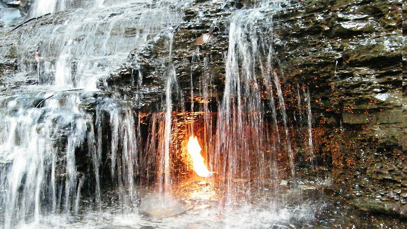 La llama eterna de Nueva York es de origen natural