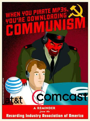 Illustration for article titled AT&T and Comcast Agree to Do the RIAA's Dirty Work