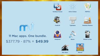 Illustration for article titled Get 11 Mac Apps, Including VMware Fusion, for $50 or 90% Off