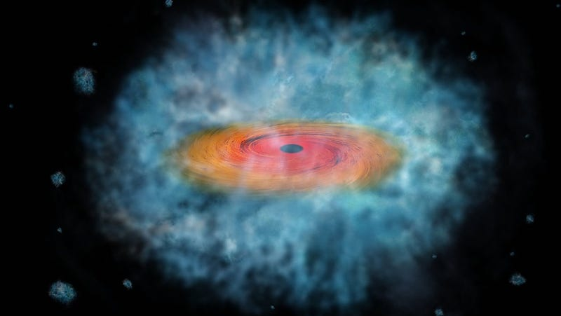 Illustration for article titled Los astrónomos han resuelto por fin una de las mayores incógnitas sobre los agujeros negros