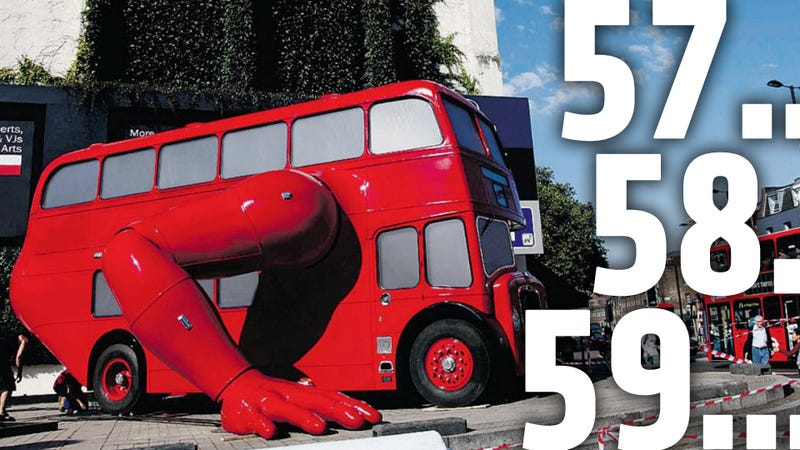 Illustration for article titled London Olympics Gets A Double Decker Bus That Does Push-Ups