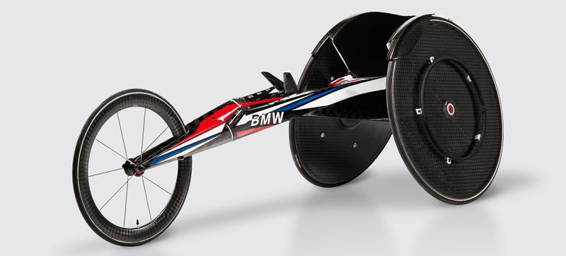 Illustration for article titled This Is BMW's Carbon Fiber Racing Wheelchair From Outer Space