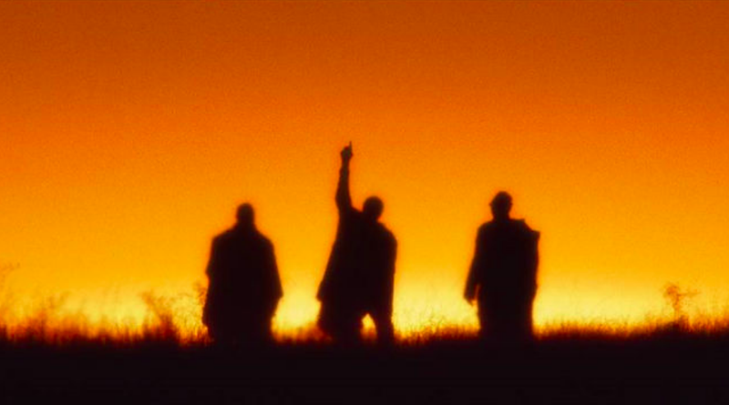 "Silhouettes of the surviving members of A Tribe Called Quest from the new ""Space Program"" video."
