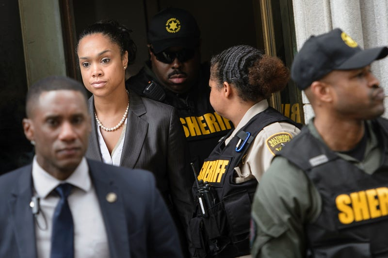 Baltimore City State's Attorney Marilyn Mosby departs Mitchell Court House in Baltimore June 23, 2016, after Baltimore Police Officer Caesar Goodson Jr.'s acquittal on all charges in his murder trial in the death of Freddie Gray.BRENDAN SMIALOWSKI/AFP/Getty Images