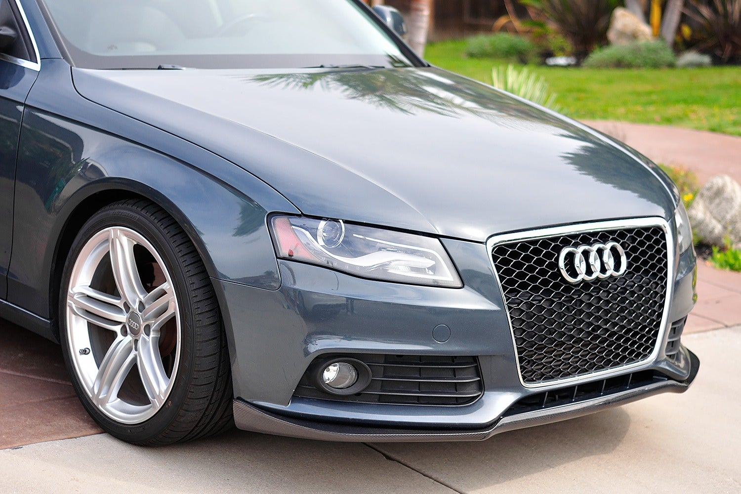 audi b8 a4 front spoiler lip on massdrop. Black Bedroom Furniture Sets. Home Design Ideas