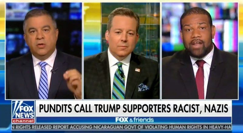Illustration for article titled Trump Supporter Tells Black Man He's Out of His 'Cotton-Picking Mind' During Appearance on Fox & Friends