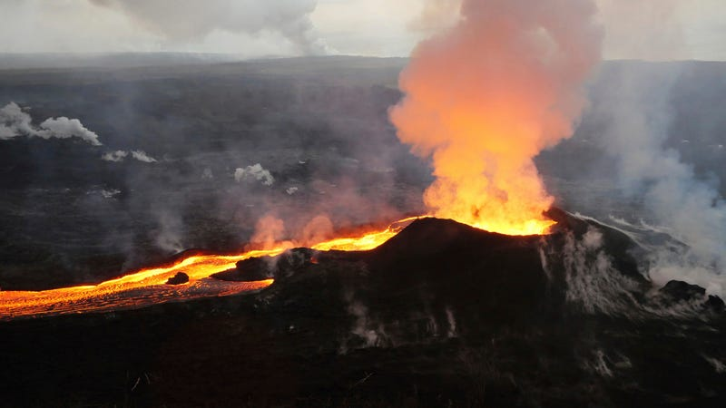 The eruption in Kilauea's Lower East Rift Zone.