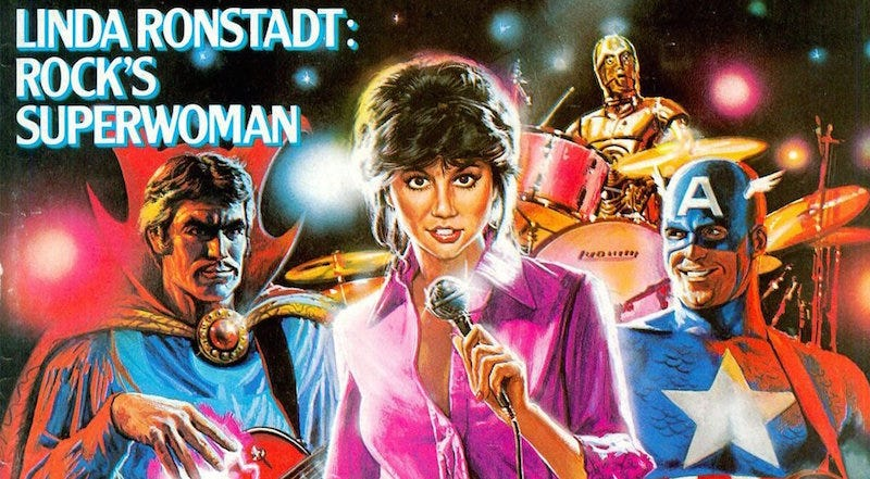 Illustration for article titled What If... Linda Ronstadt Started a Band With Captain America and Dr. Strange?