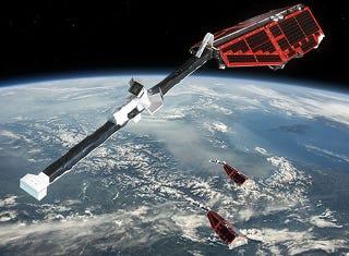 Illustration for article titled Tres satélites estudiarán el centro de la Tierra desde el espacio