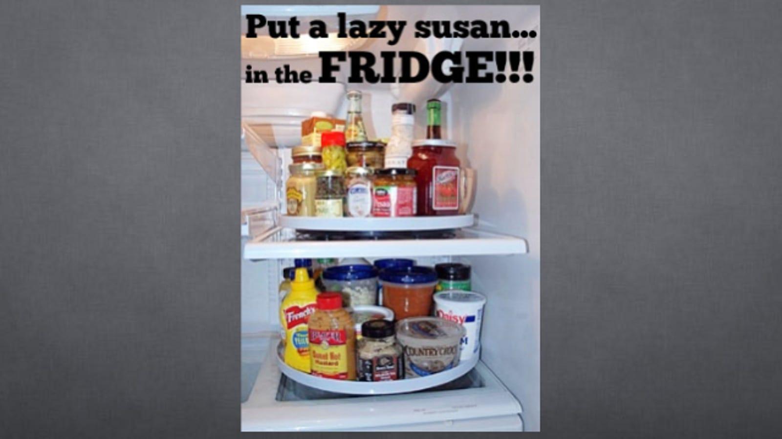 Wonderful Organize Your Fridge With a Lazy Susan ZF44