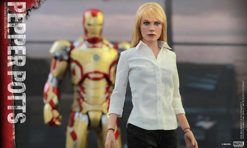 Illustration for article titled Gwyneth Paltrow's Lifelike Pepper Potts Figure Is Silently Judging You