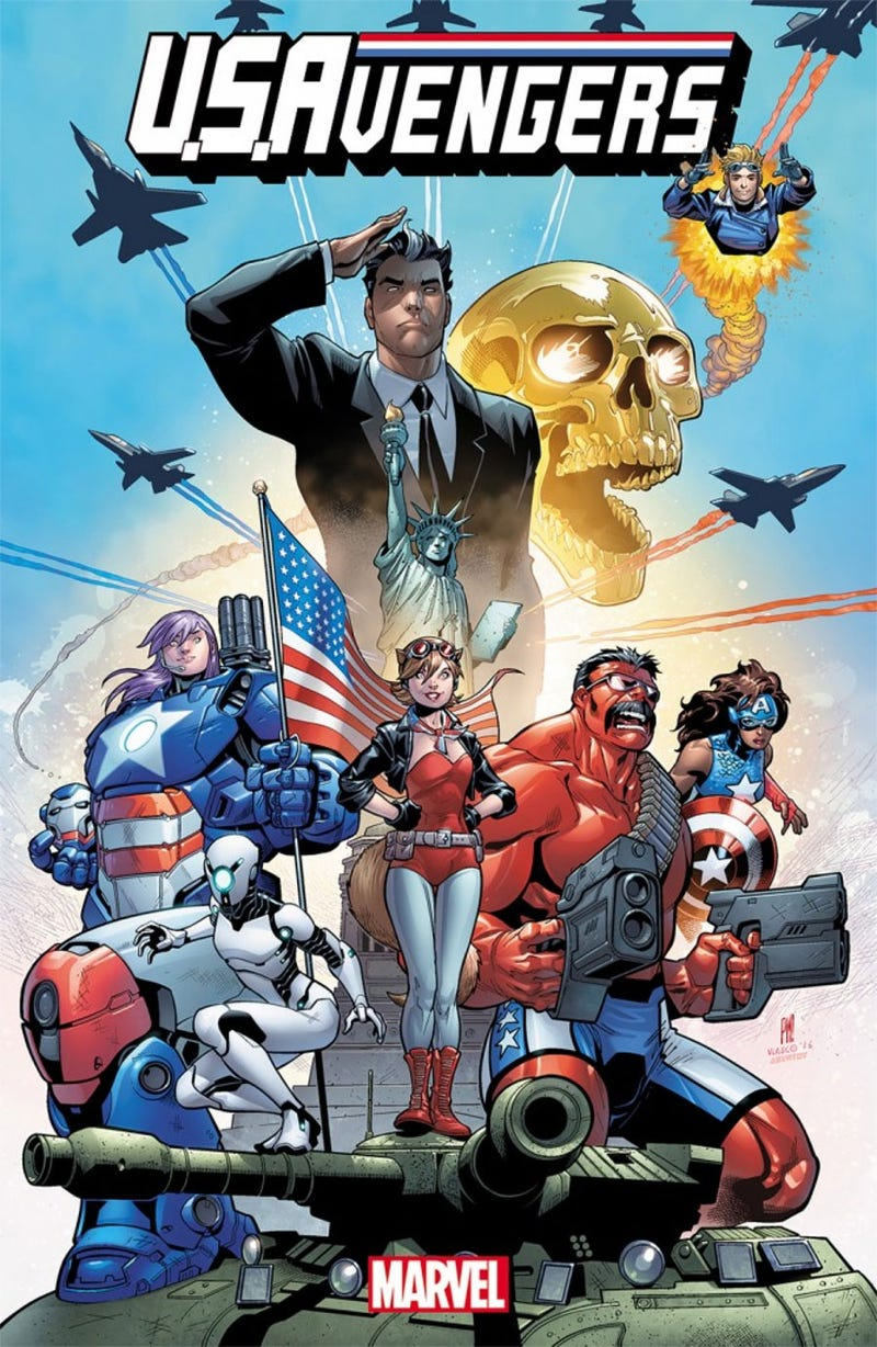 Illustration for article titled The New Avengers Go Patriotic and Become the U.S.Avengers