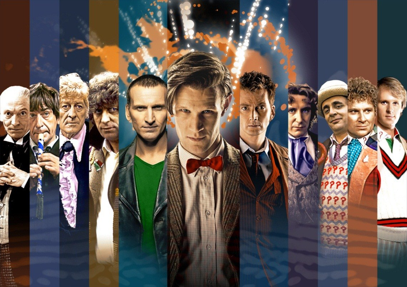 """Illustration for article titled The """"average"""" face of the Doctor"""