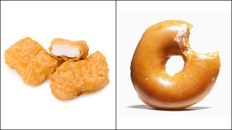 Illustration for article titled Behold the donug, the unholy-and-probably-delicious chicken nugget doughnut