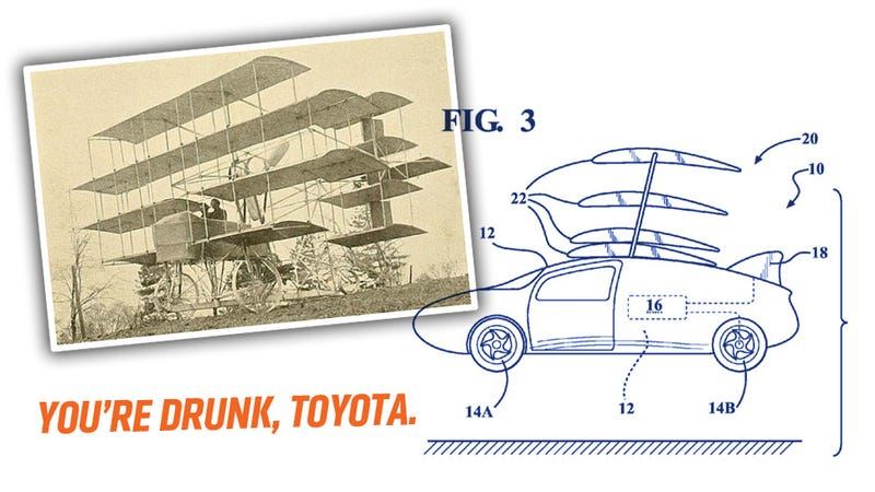 Illustration for article titled Toyota Files For A Patent That Could Let Priuses Plummet Out Of The Sky