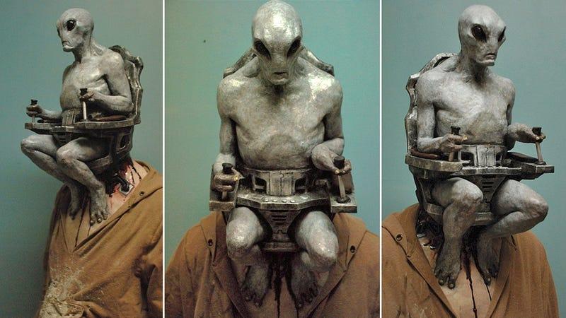 give up now this alien human pilot mask already won halloween - Alien Halloween Masks