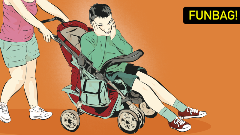 Illustration for article titled Down With Old Kids In Strollers