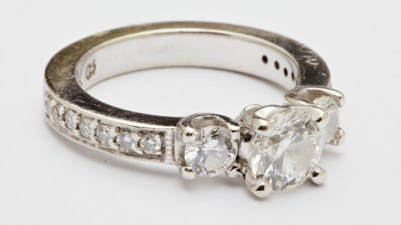 dont be fooled by a diamond as big as the ritz scientists say that enormous engagement rings are not a predictor of a flawless pinterest perfect life - Huge Wedding Rings