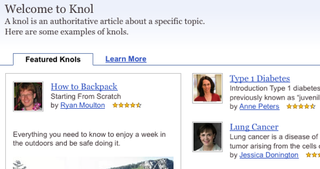 Illustration for article titled Google Knol Opens Its Doors, Challenges Wikipedia