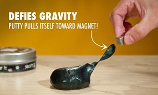 Illustration for article titled Magnetic Thinking Putty Wants Your Loose Change