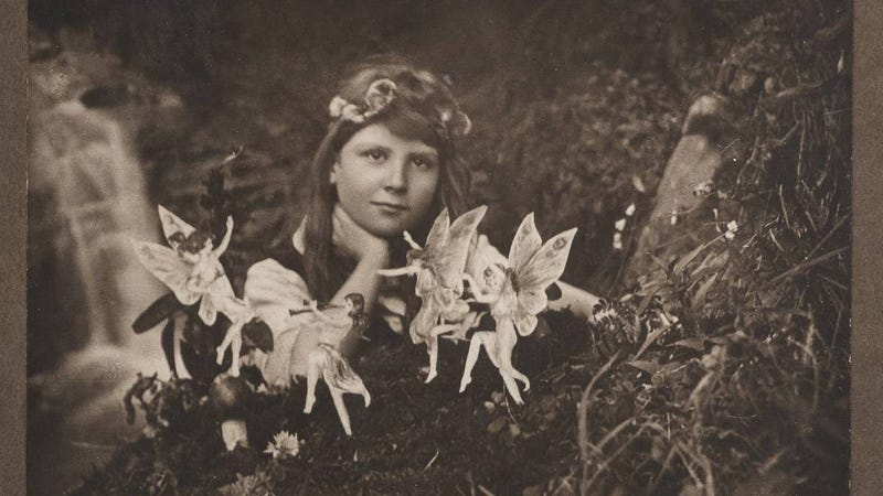 Illustration for article titled Two Cottingley Fairy Photos Are Going Up for Auction, In Case You've Got £2,000 Lying Around