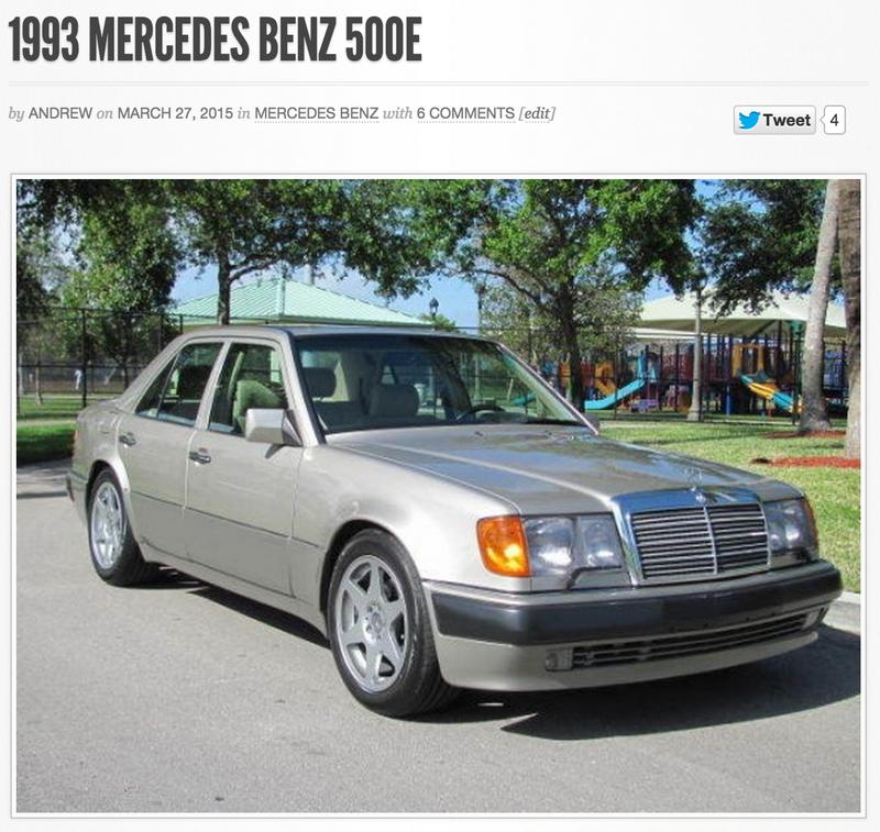 Gcfsb 39 93 mercedes benz 500e for Mercedes benz 500 e