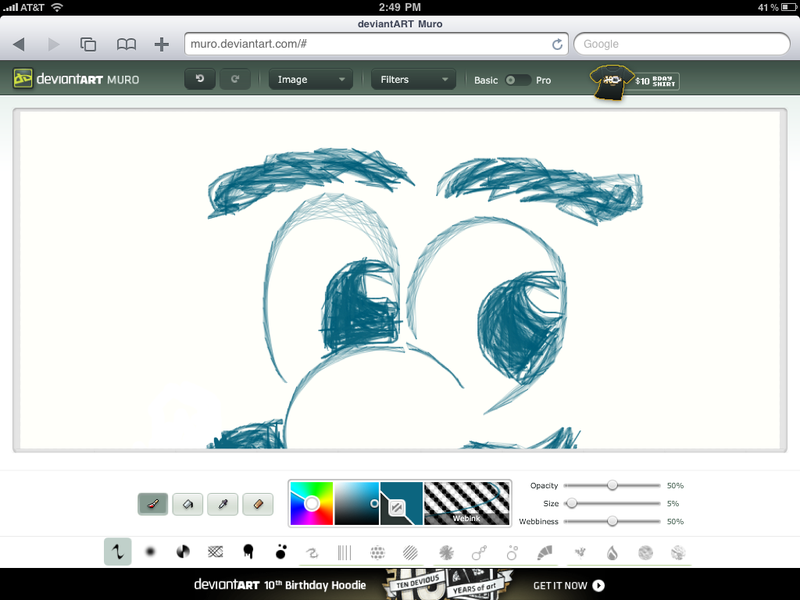 Illustration for article titled DeviantART Muro is an HTML5 Drawing App that Works on Your iPad