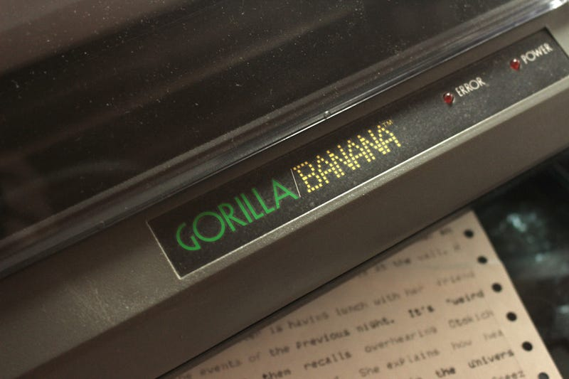 Illustration for article titled you'll never beat my *squints eyes* Gorilla Banana printer.
