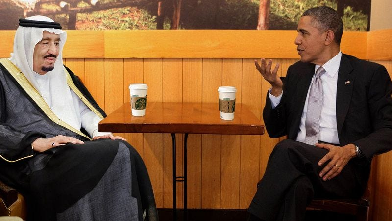 Illustration for article titled Obama Hosts Diplomatic Talks At Starbucks While Oval Office Carpet Cleaned