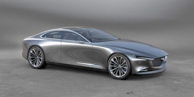 Illustration for article titled The Mazda Vision Coupe Concept Is One Of The Best Sedan Designs We've Seen In A While