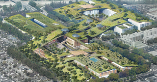 Illustration for article titled Cupertino May Replace Its Dead Mall With the Biggest Green Roof Ever Built
