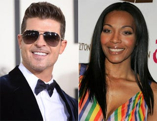 Robin Thicke; Nona GayeGetty Images