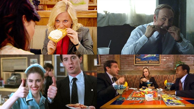 Illustration for article titled Food sanctuaries: TV characters' favorite places to calm down and fatten up