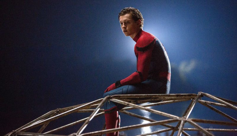 Peter Parker, deep in thought, in Spider-Man Homecoming. Image: Sony