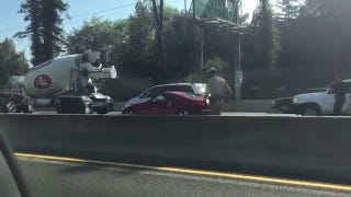 Look At This Guy Trailing Taser Wires Running Half Naked Down A Highway